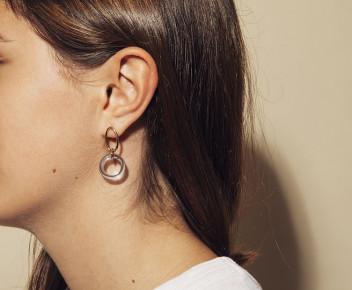 Boucles d'oreilles Bing transparente