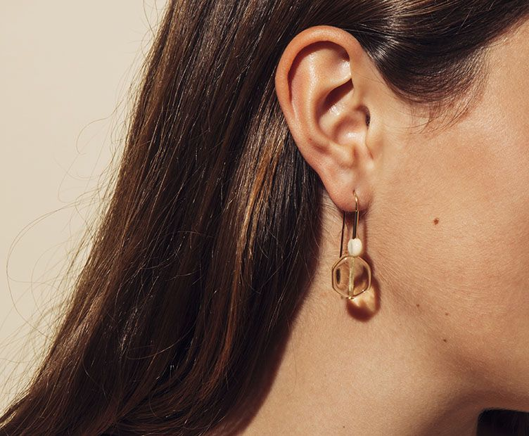 Boucles d'oreilles Hop bicolore