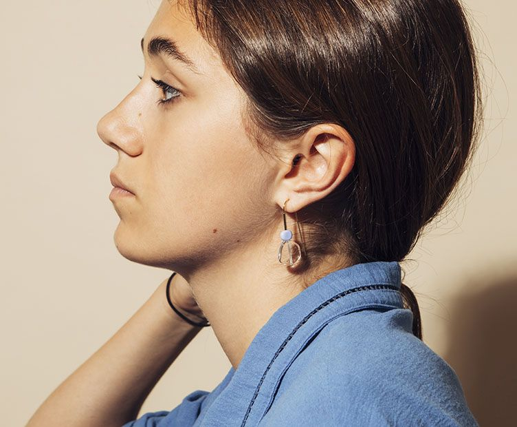 Boucles d'oreilles Hop transparentes