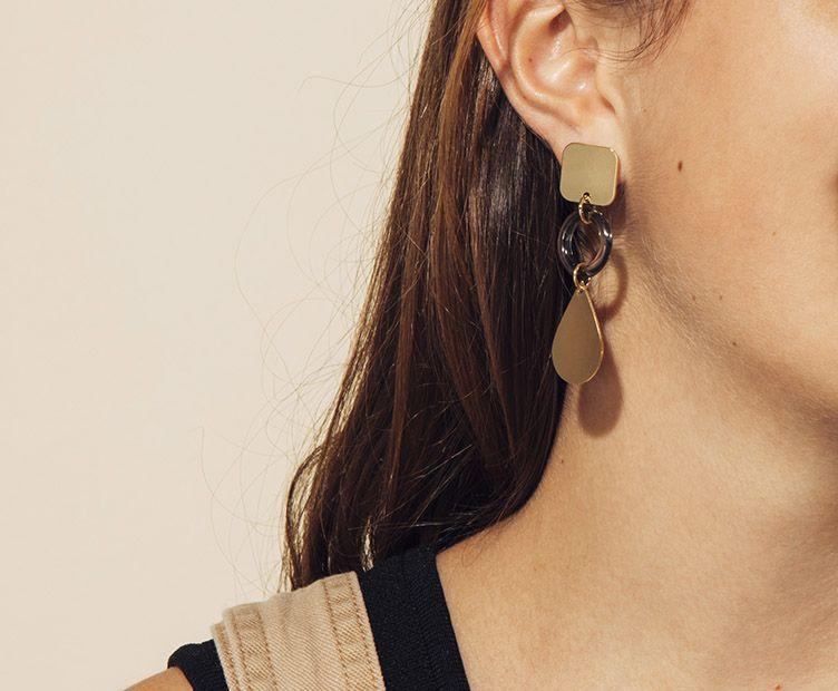 Boucles d'oreilles Wap transparentes