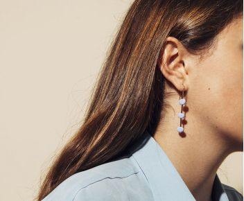 Boucles d'oreilles Wizz opaques