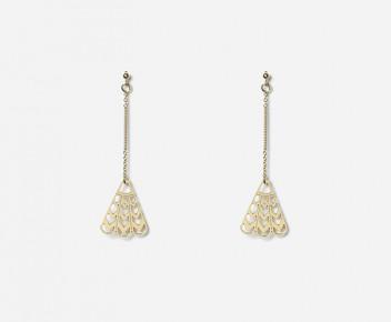 Mini Lotus Earrings