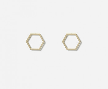 Hexagon Smooth Earrings