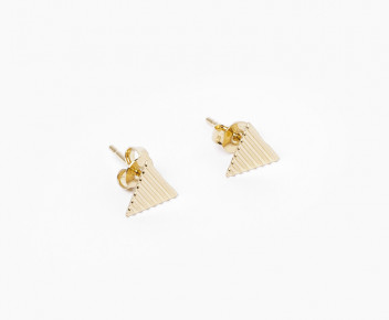 Tricky Puce Earrings