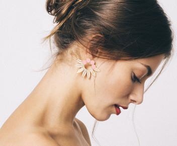 Whoopy Earrings nude