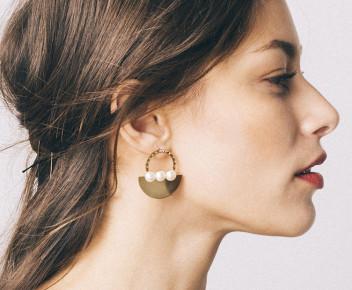 Moss Perle Earrings