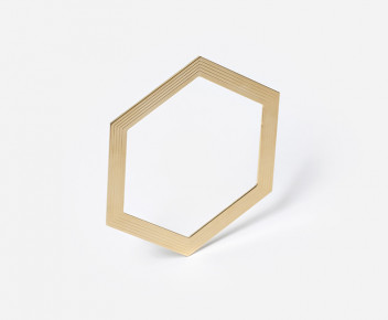 Jonc Hexagone plat 01