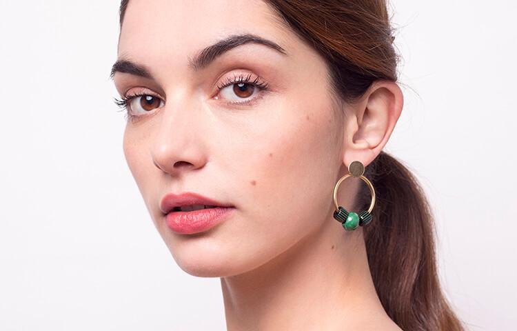 bijoux colorés bijoux vert bijoux perles chic alors