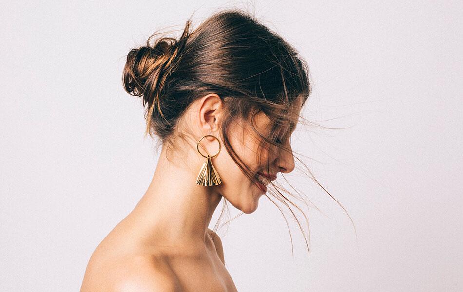 boucles d'oreilles or plissée chic alors petula